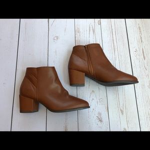 Bamboo - Brown Leather Booties - Size 9